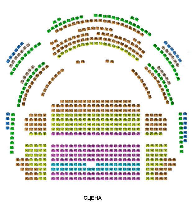 Схема зала РАМТа
